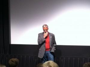 Randy Jurgensen speaking to the crowd