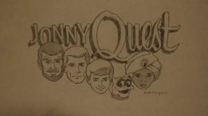 Jonny Quest logo sketch