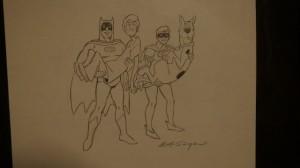 Batman & Robin & Scobby & Shaggy