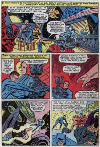 See for yourself. From Fantastic Four Annual #3, 1965, by Stan Lee and Jack Kirby. Click to enlarge. (Image © Marvel)