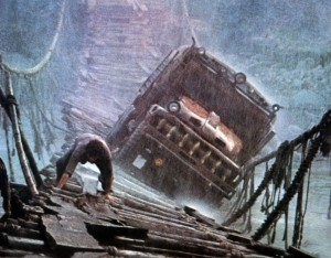 1977 Sorcerer film, <i>il Lazaro</i> truck on bridge