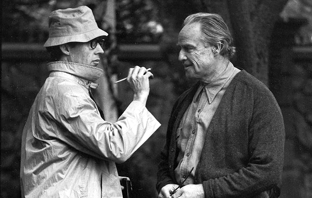 Smith onset with Marlon Brando on The Godfather, 1972.
